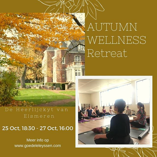 I feel happy, excited, and very very inspired, to share new insights, new meditations and beautiful, powerful morning and evening rituals at this unique Autumn Wellness Retreat with @thelifedesigndoc  25-27 of October @heerlijckyt_van_elsmeren #happy #love #prosperity #abundance #happiness