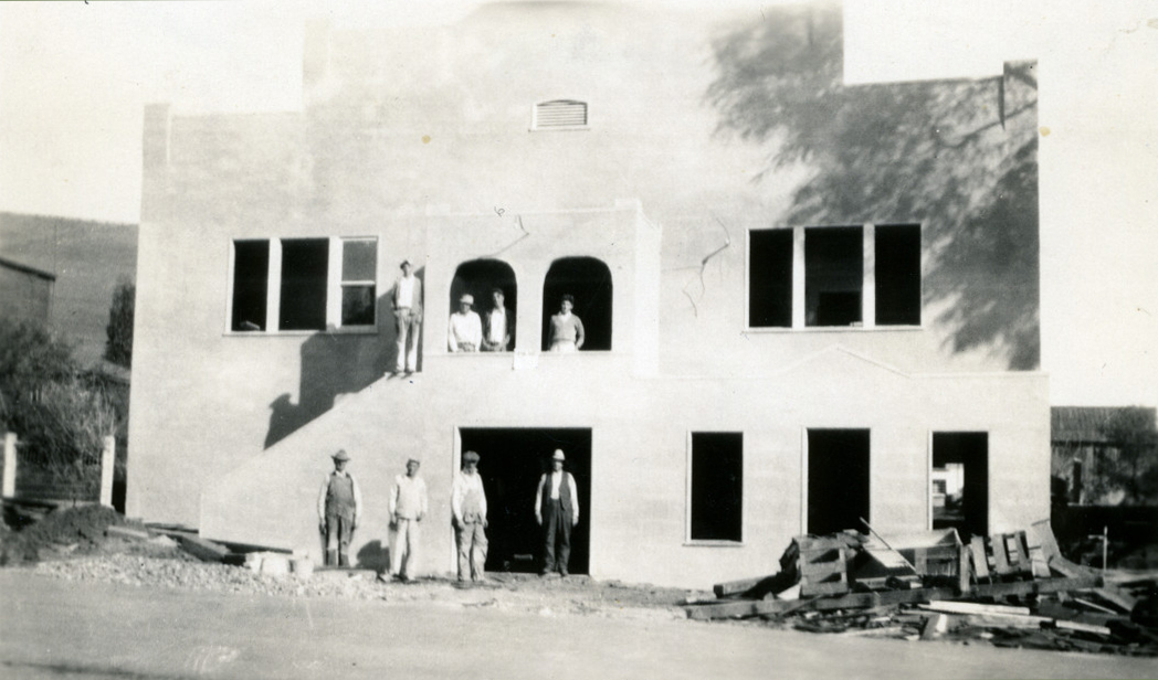 N earing completion of façade addition, 1931. Photo: Ella Jorgensen; courtesy Tomales Regional History Center.