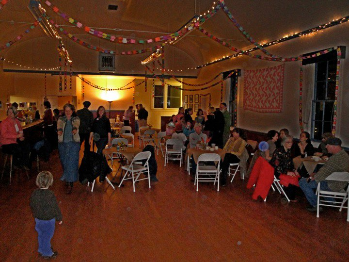 Barn dance at the Tomales Town Hall c. 2007.