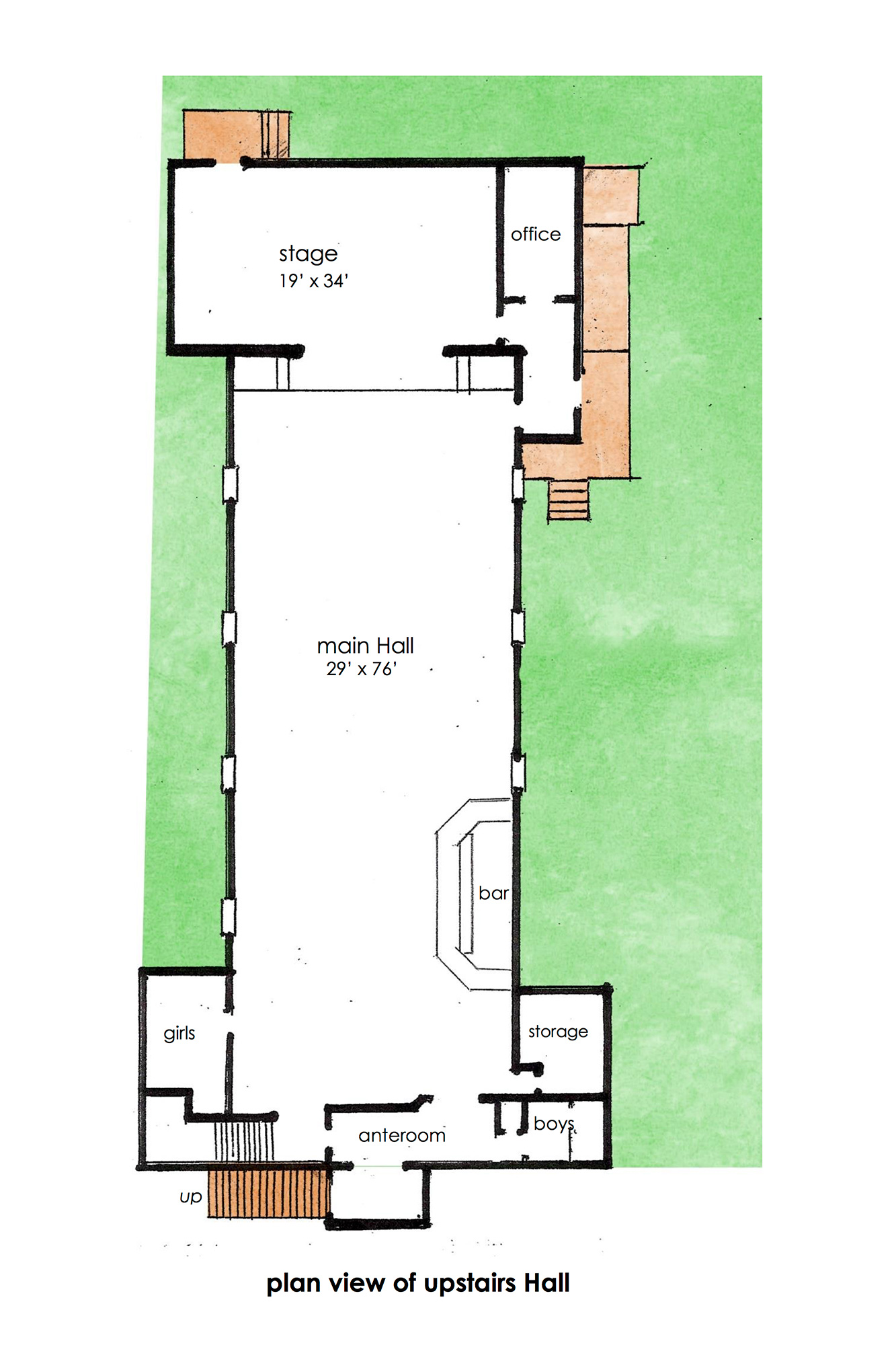 Plan View of Upstairs
