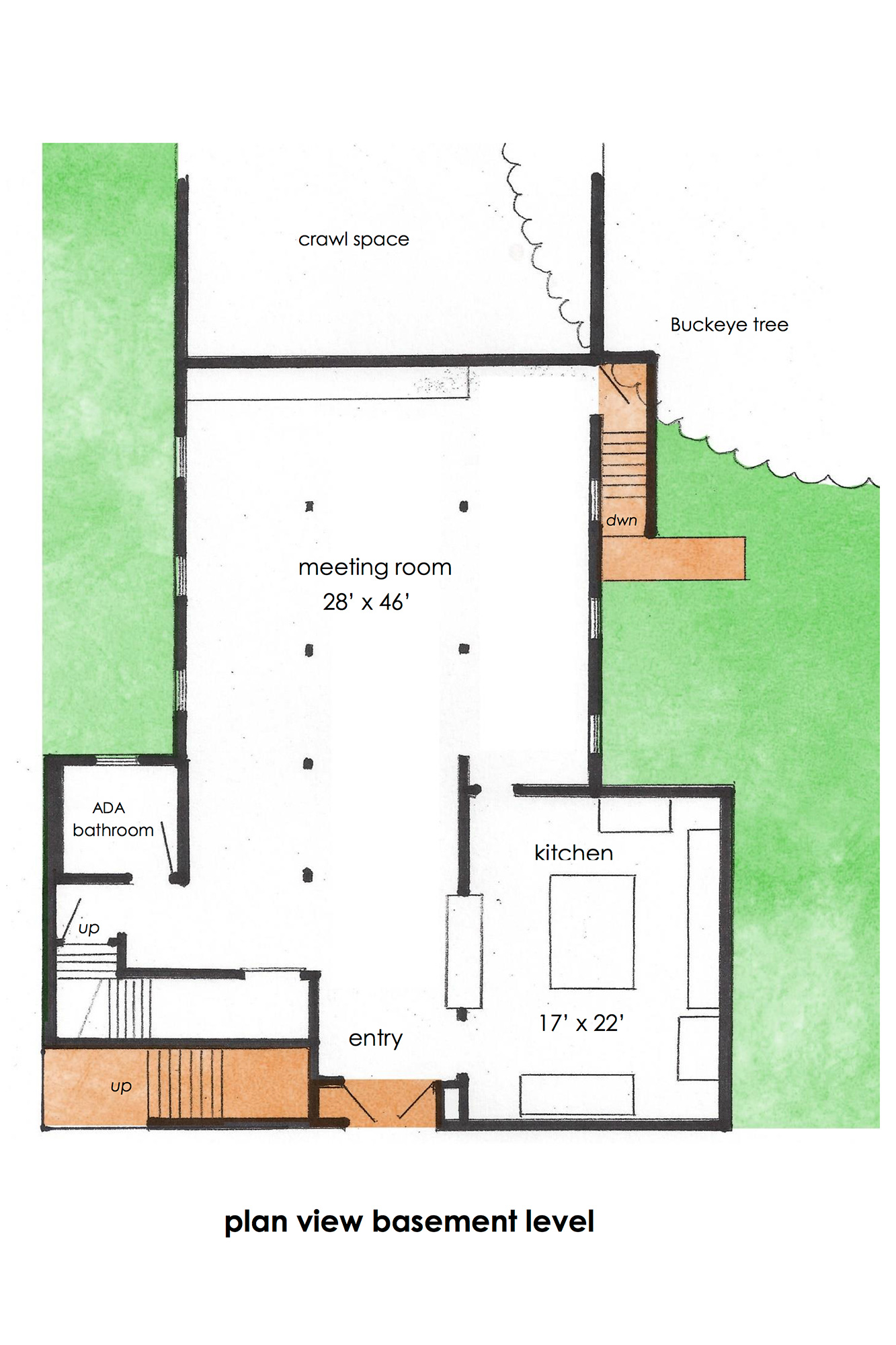 Plan View of Basement Level