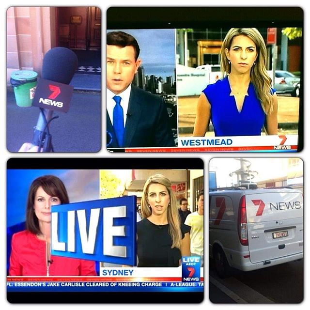 It's been such a busy 2019 that I forgot to commemorate five years with @7newssyd ! These were pics of my first week... in typical breaking news fashion, my first day was a live cross with someone I'd long admired, the incredible Ann Sanders - (for the record, I managed mostly not to fluff my lines 😂!) and then followed everything from elections, to courts, bushfires, floods, terror attacks, making Angelina Jolie tear up (on live TV!), covering both the best in humanity and the worst in humanity, but with a team of the most lovely, hardworking, dedicated people, colleagues and now great friends, who deserve so much more than thanks 🙏🙌