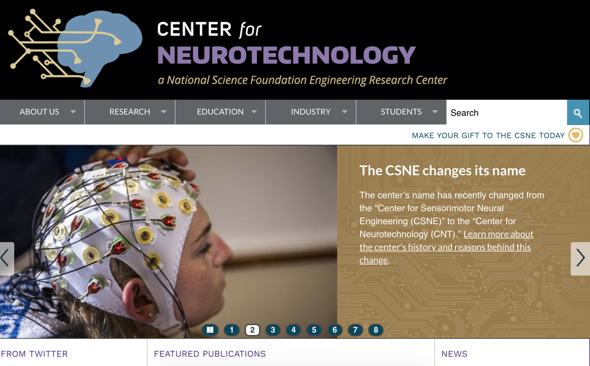 Center for Neurotechnology Homepage