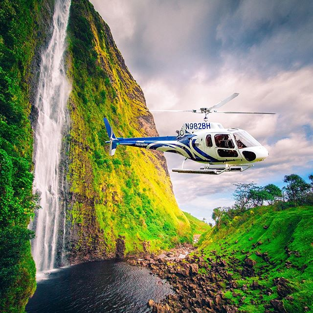 We book helicopter trips on the Big Island too! The waterfalls of Kohala tour with private landing is a once in a lifetime experience!📷@hawaiihelicopters