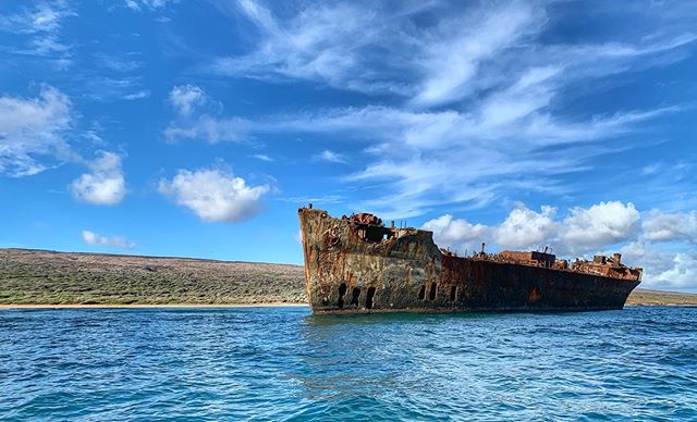 🐠Most Lānaʻi snorkel trips do not give you a chance to see the shipwrecks on the backside of the island🐬@mauioceanriders does! Mahalo for making our guests snorkel trip extra special🐢