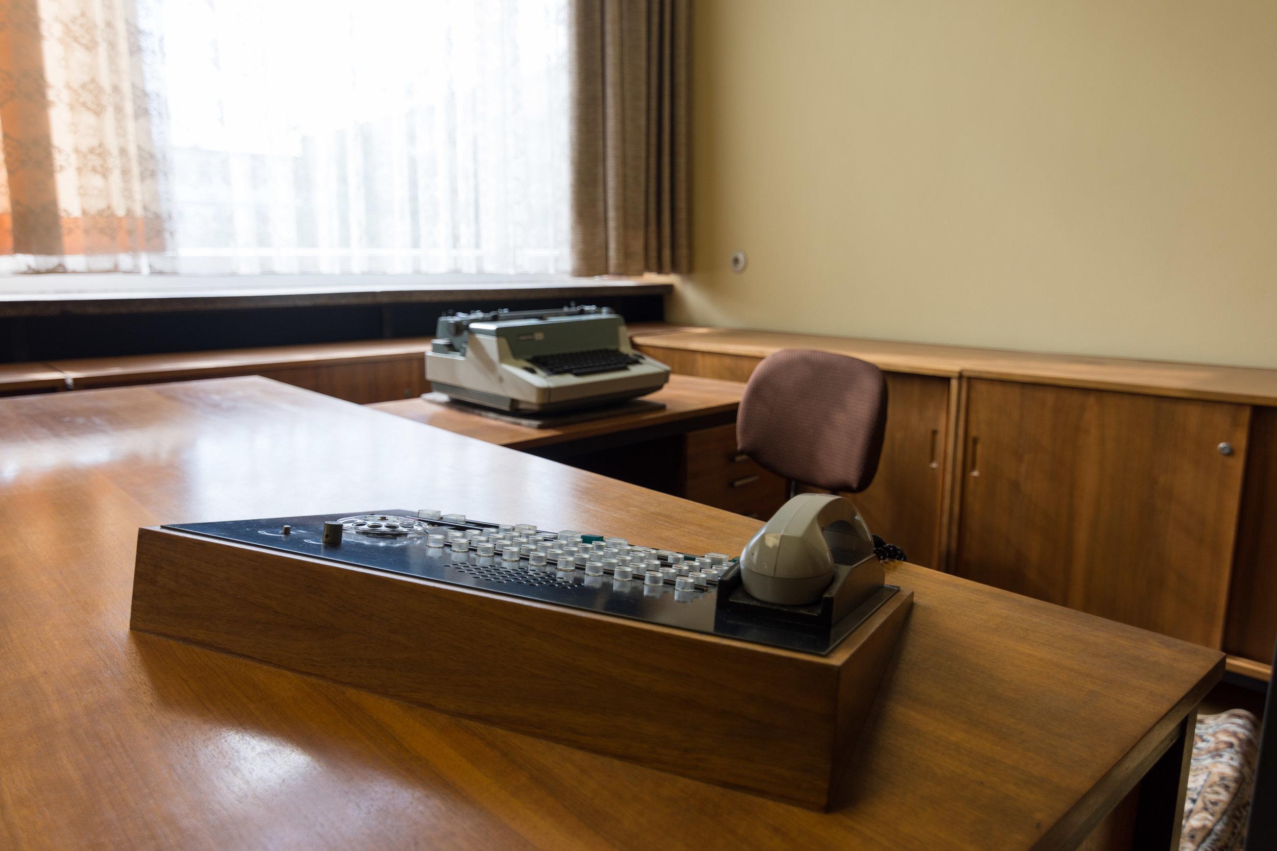 Switchboard outside Mielke's office.