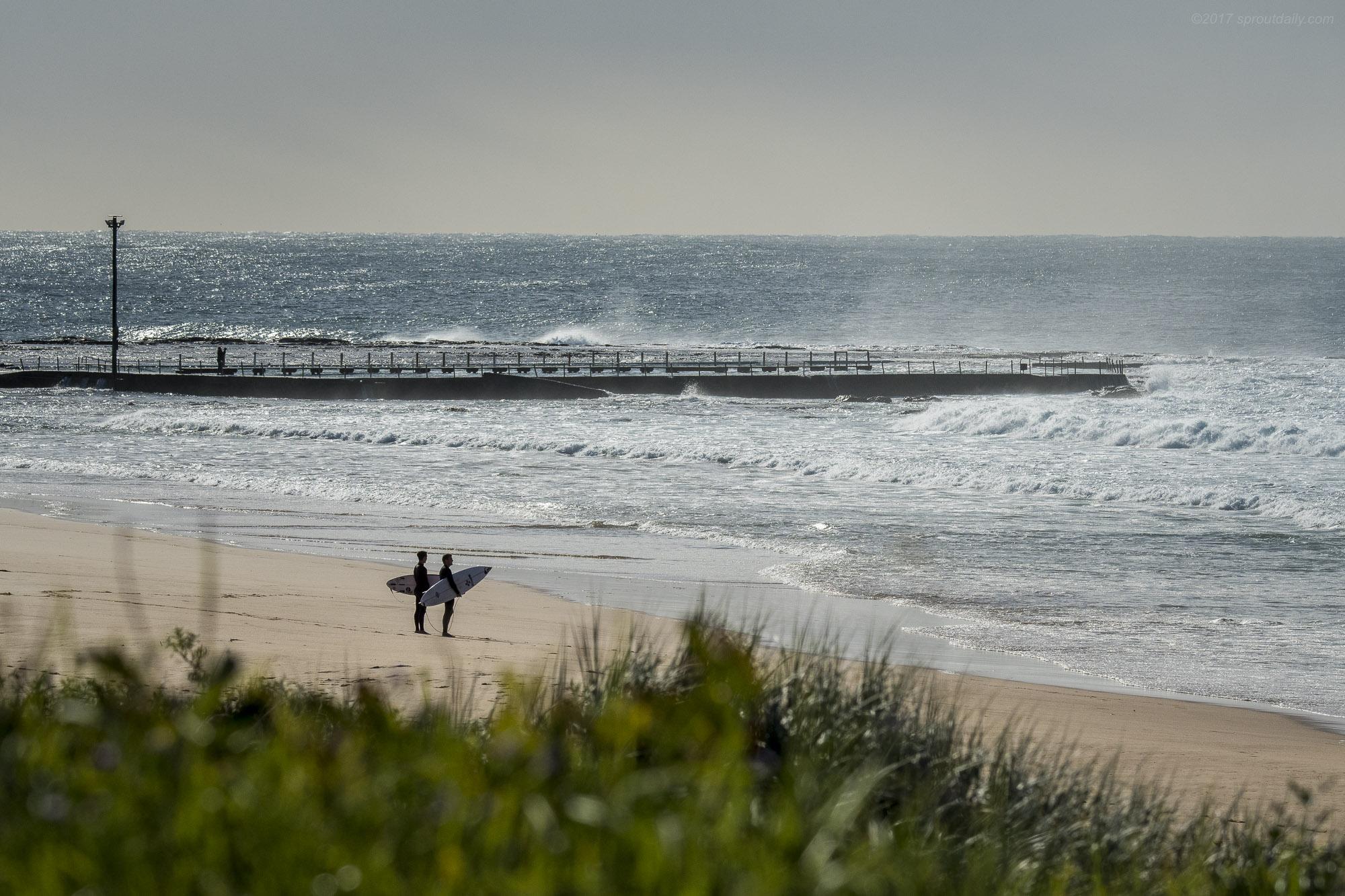 Post-Surf Moment