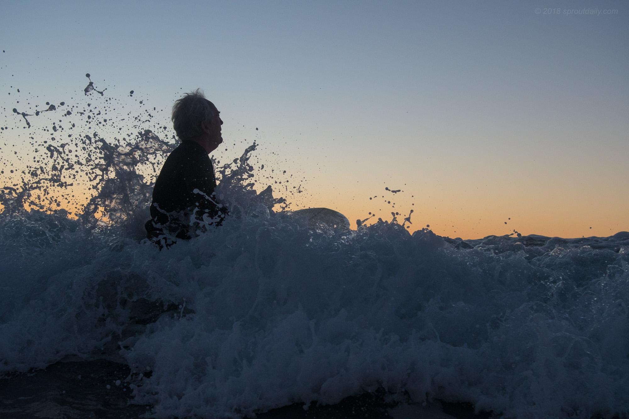 The first splash feeling...