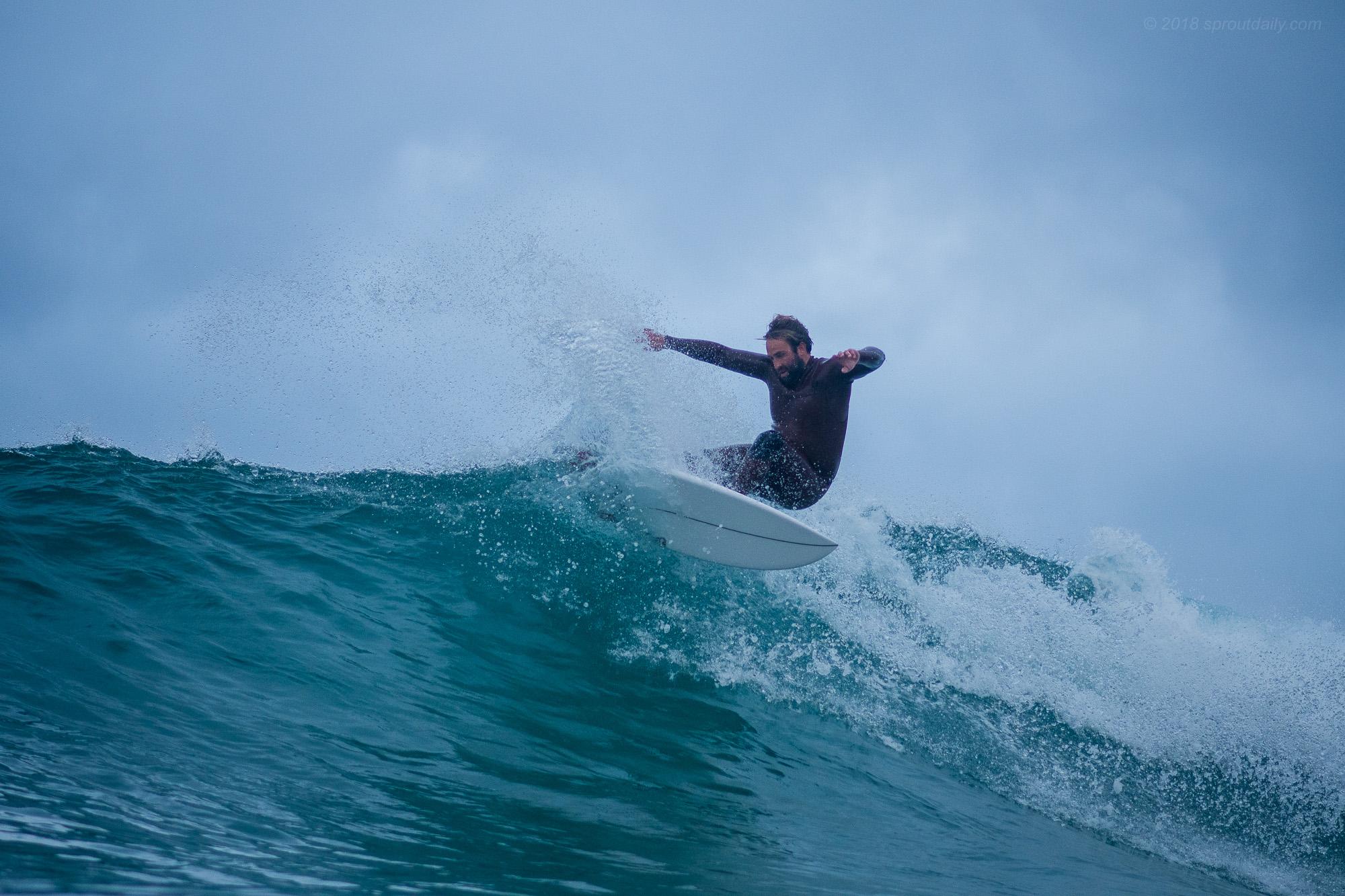 Craig jamming on three fins