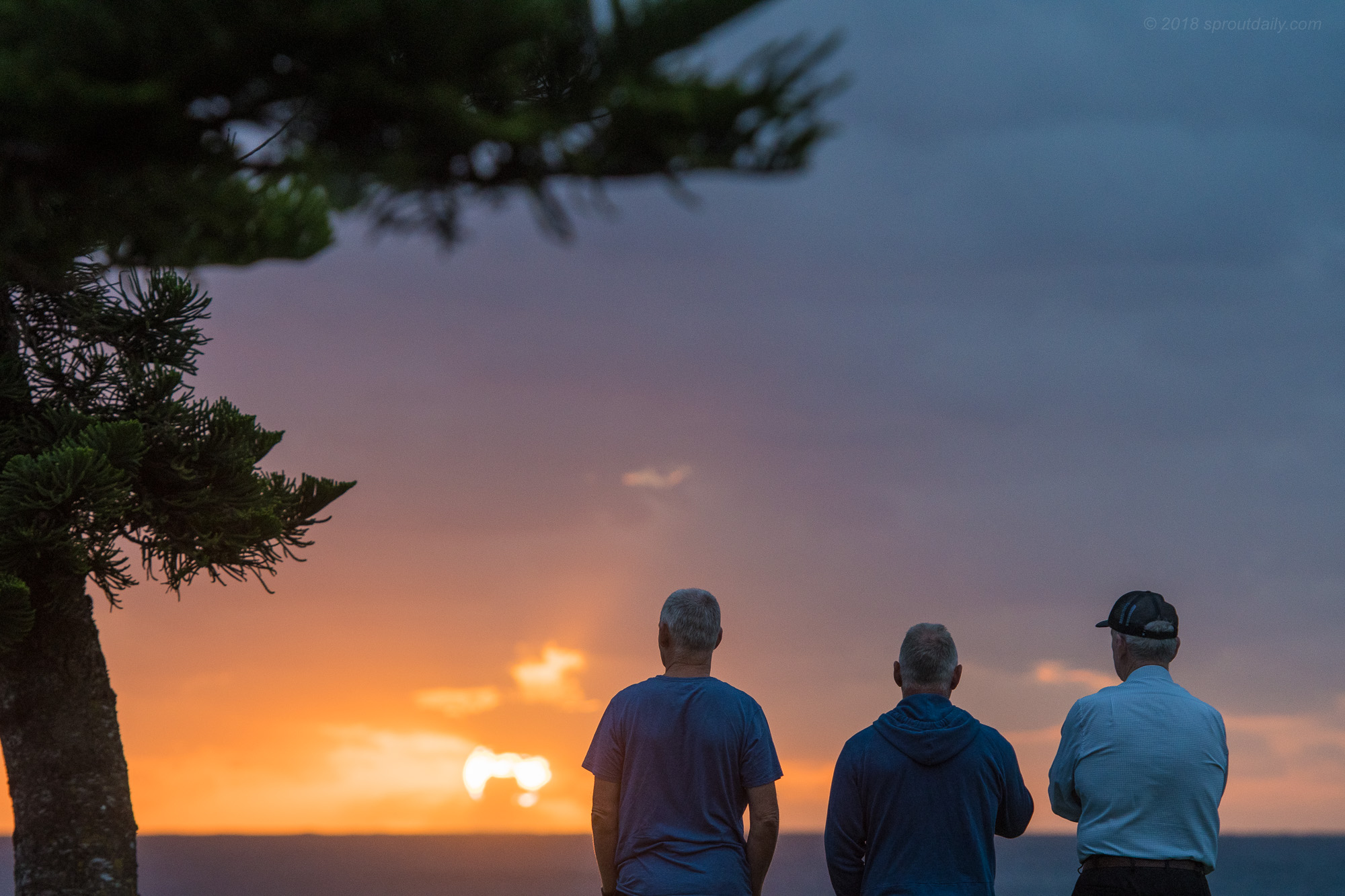 Just three blokes enjoying a Valentines Day sunrise together...