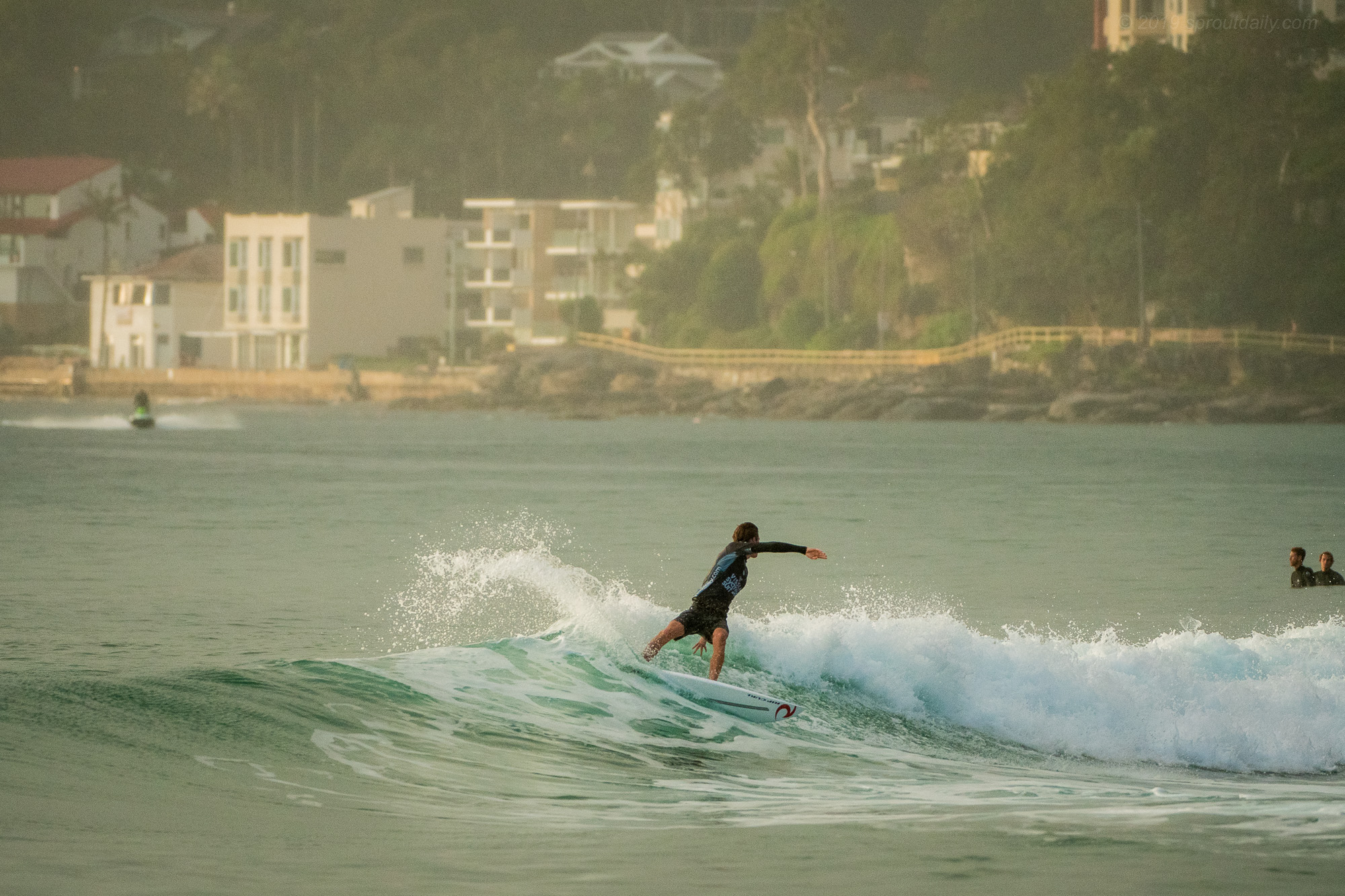 George Pittar flying the flag for North Steyne Boardriders