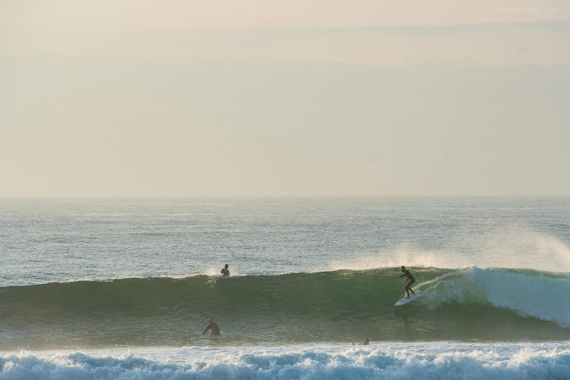 Heath - Outside on a screamer! Where'd that swell come from!