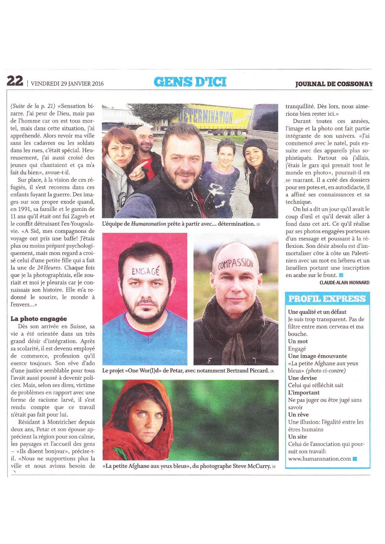 Journal de Cossonay - Vendredi 29 janvier 2016 - Page 2