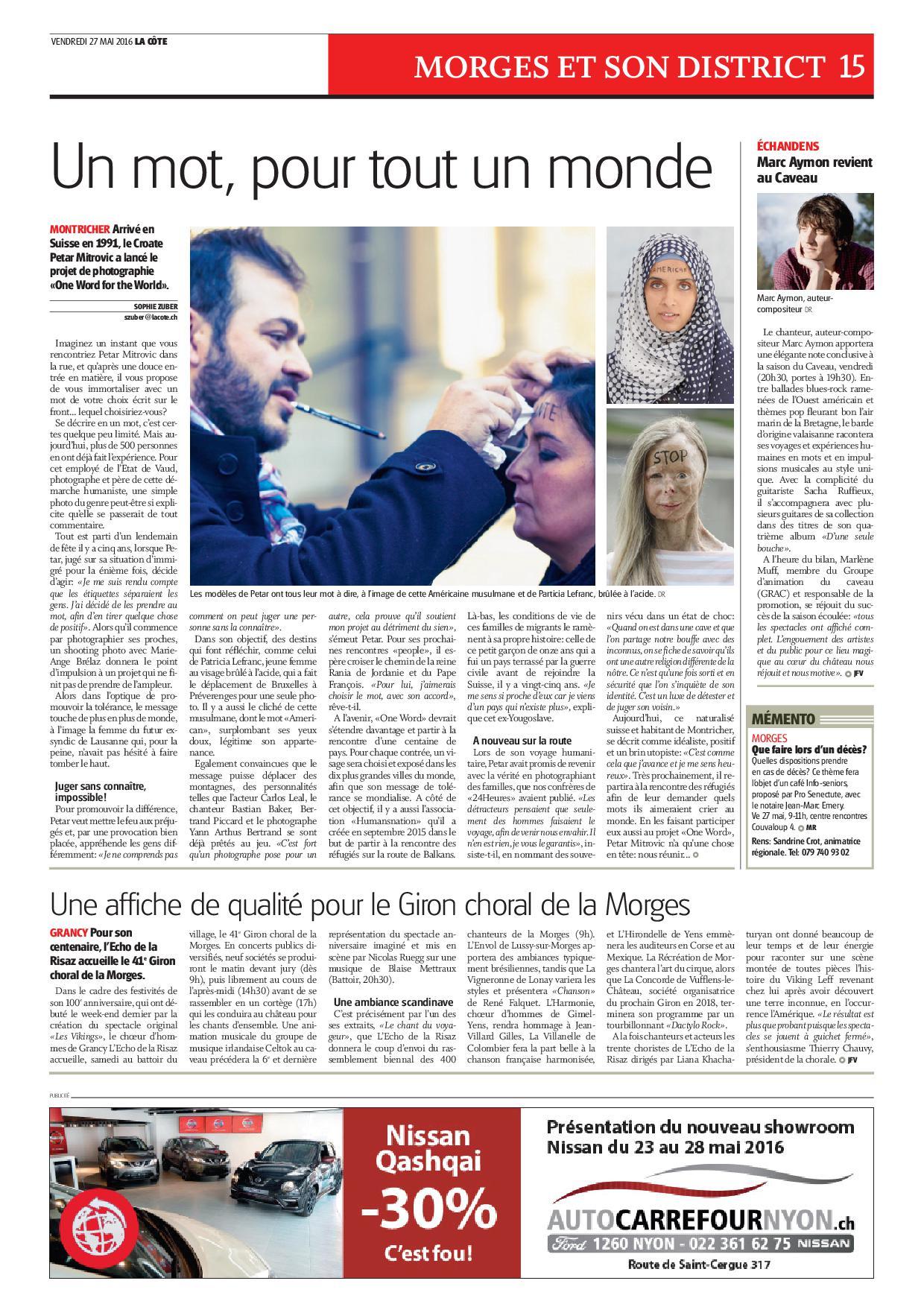Journal La Côte - Vendredi 27 mai 2016