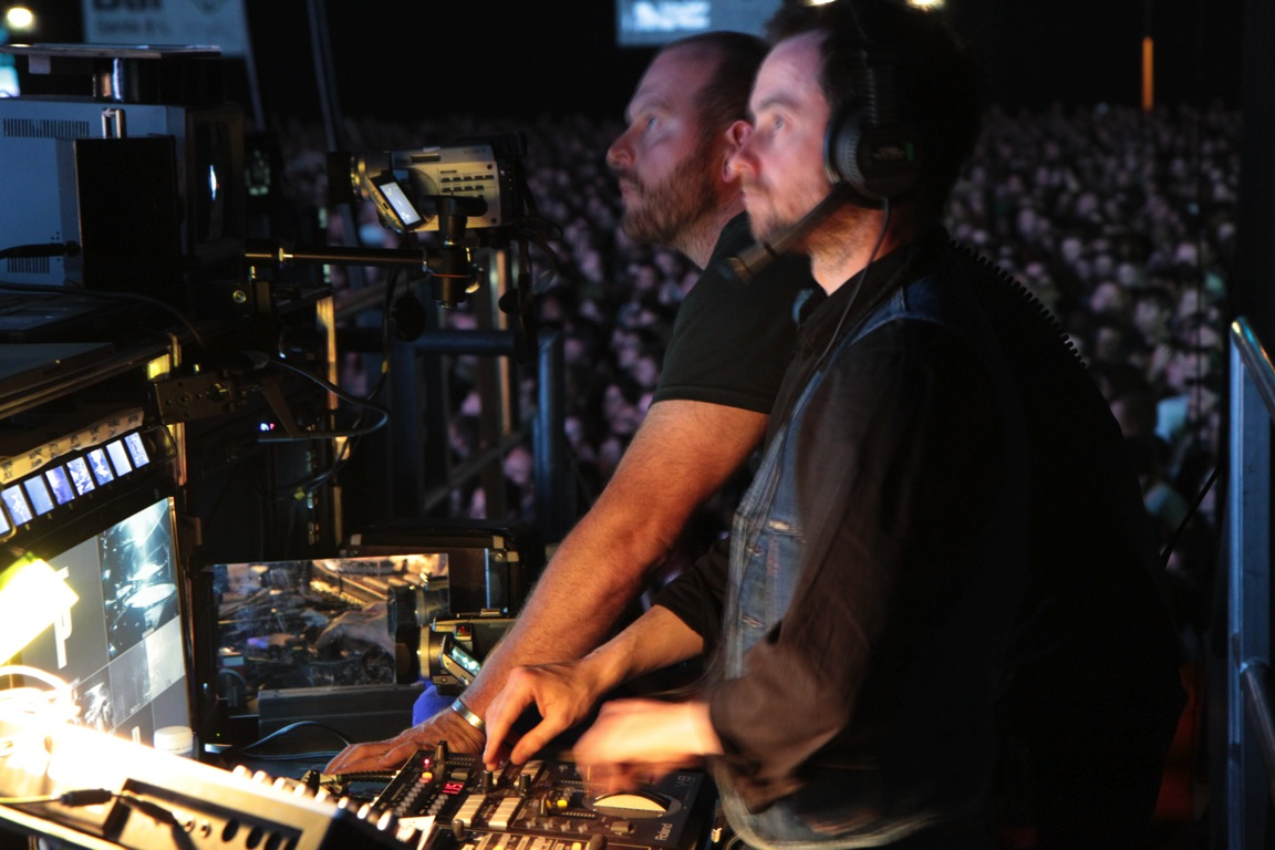 Adam in the mix for Portishead at Ally Pally.JPG