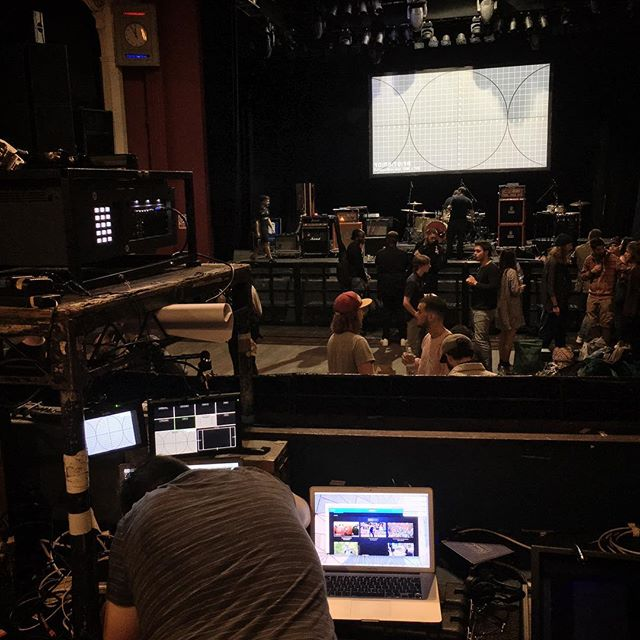 Setting up for BIMM London Graduation Showcase today at Shepherds Bush Empire #NewMusic #Projection #Video #AsDescribed
