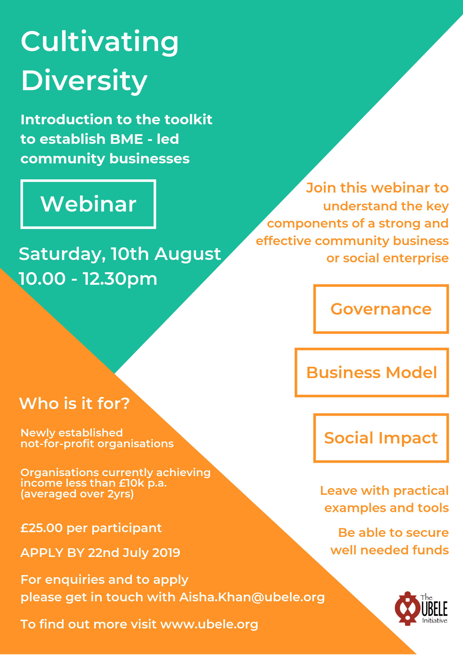 How to establish BME - led community businesses? Join our Webinar
