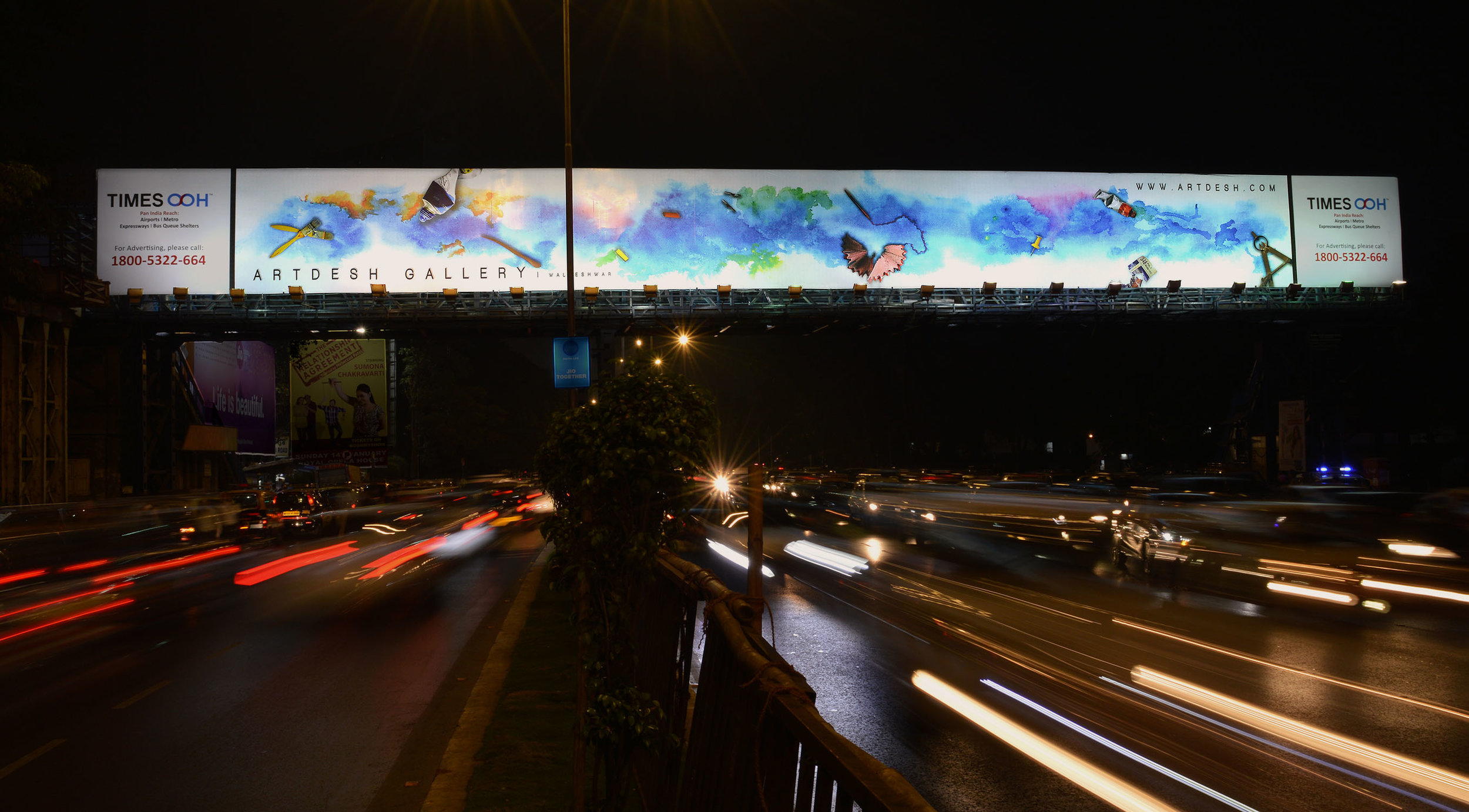 Artwork for billboard on Marine Drive, Mumbai