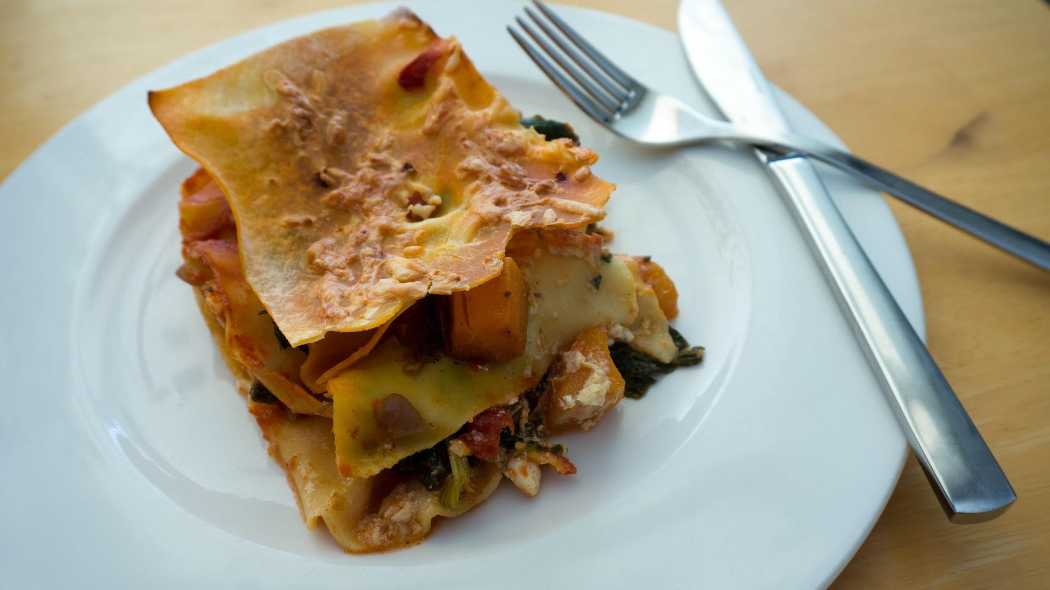 Spinach & Pumpkin Lasagne