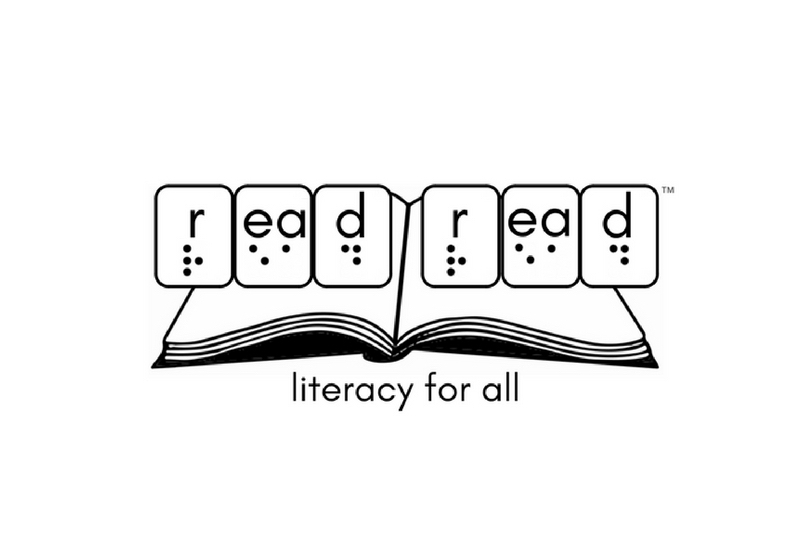 The Read Read Logo: read read (in print and braille) literacy for all