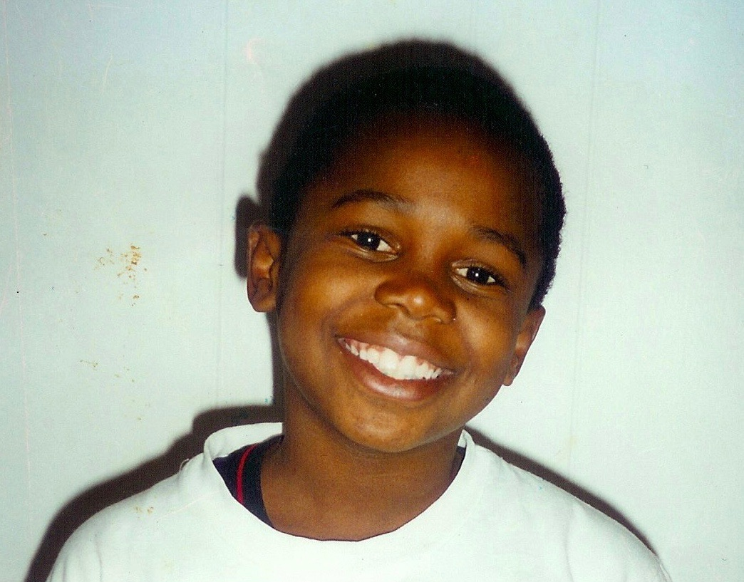 Elementary School photo, this picture was taken a few weeks after Deo started school in the US.