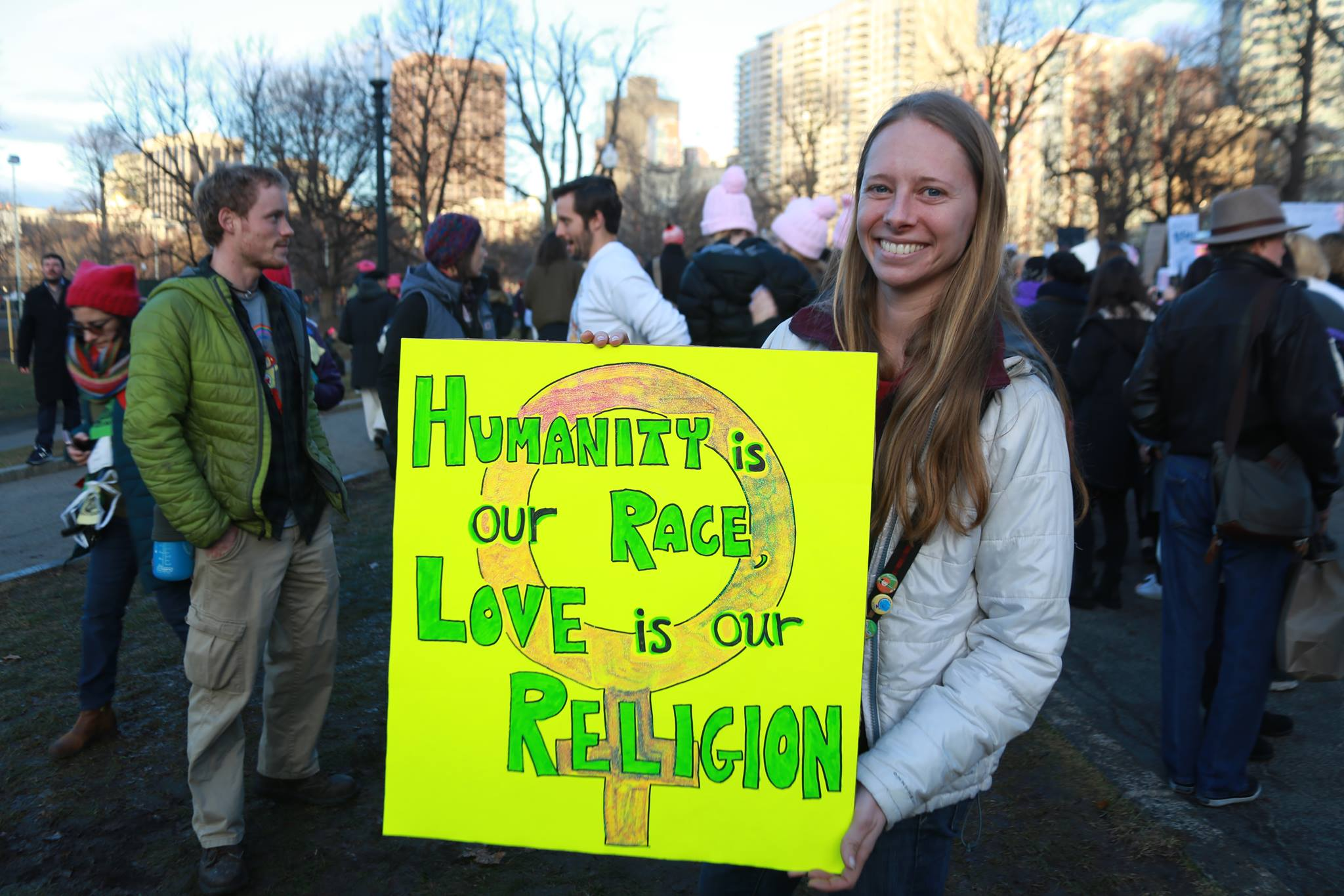 Photo by Vinny Mwano at a protest in Boston