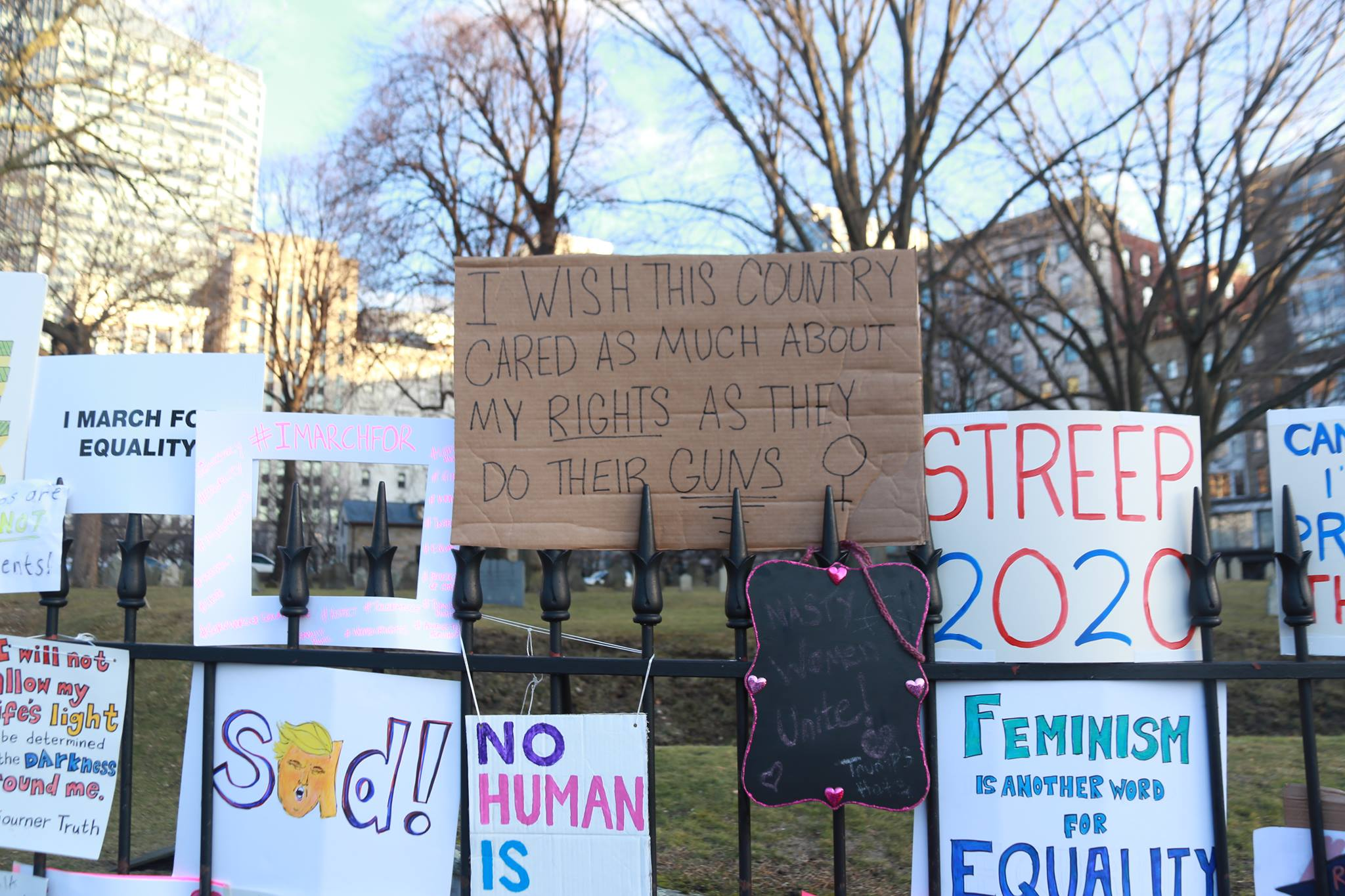 Photo by Vinny Mwano taken at a protest rally in Boston.