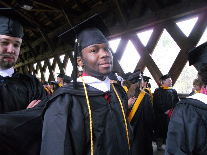 Deo at New England College Graduation