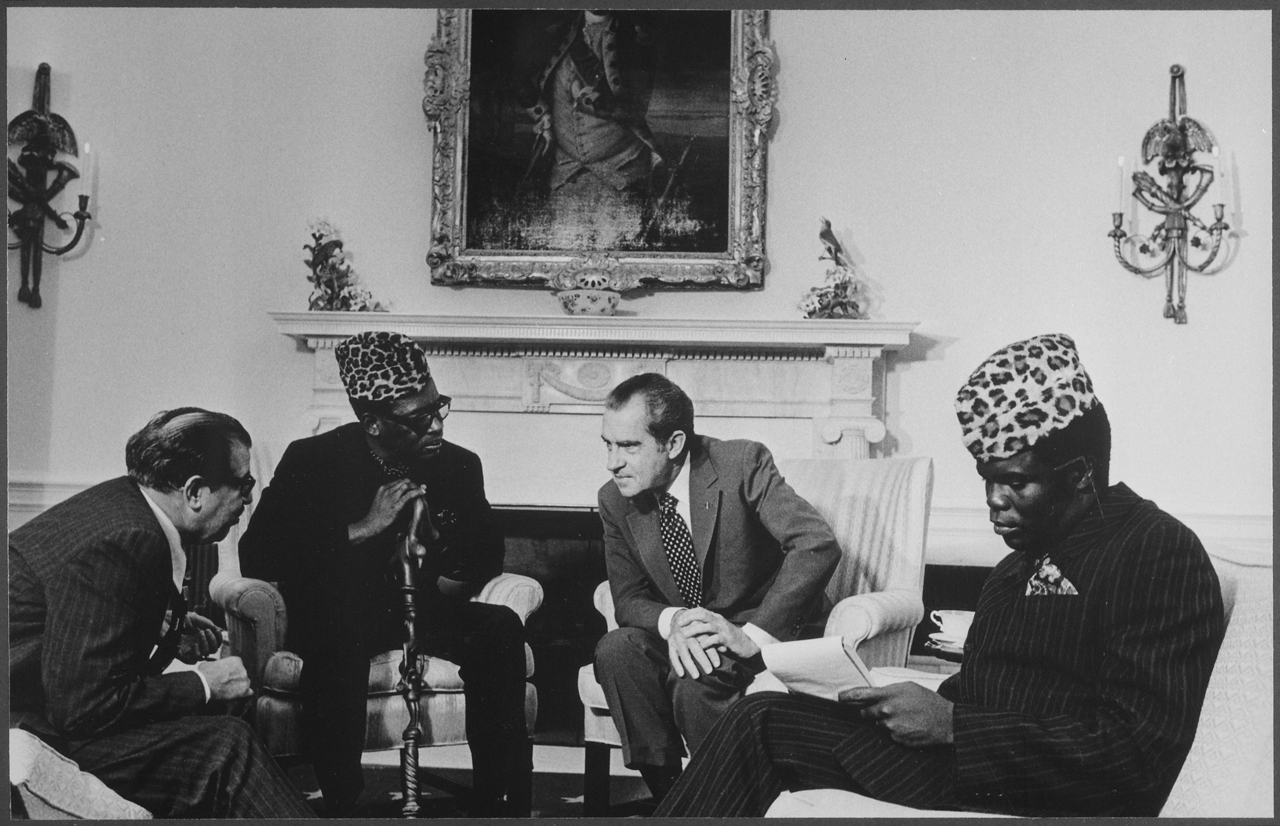President Mobutu and President Richard Nixon. Photo taken from Wikimedia Commons