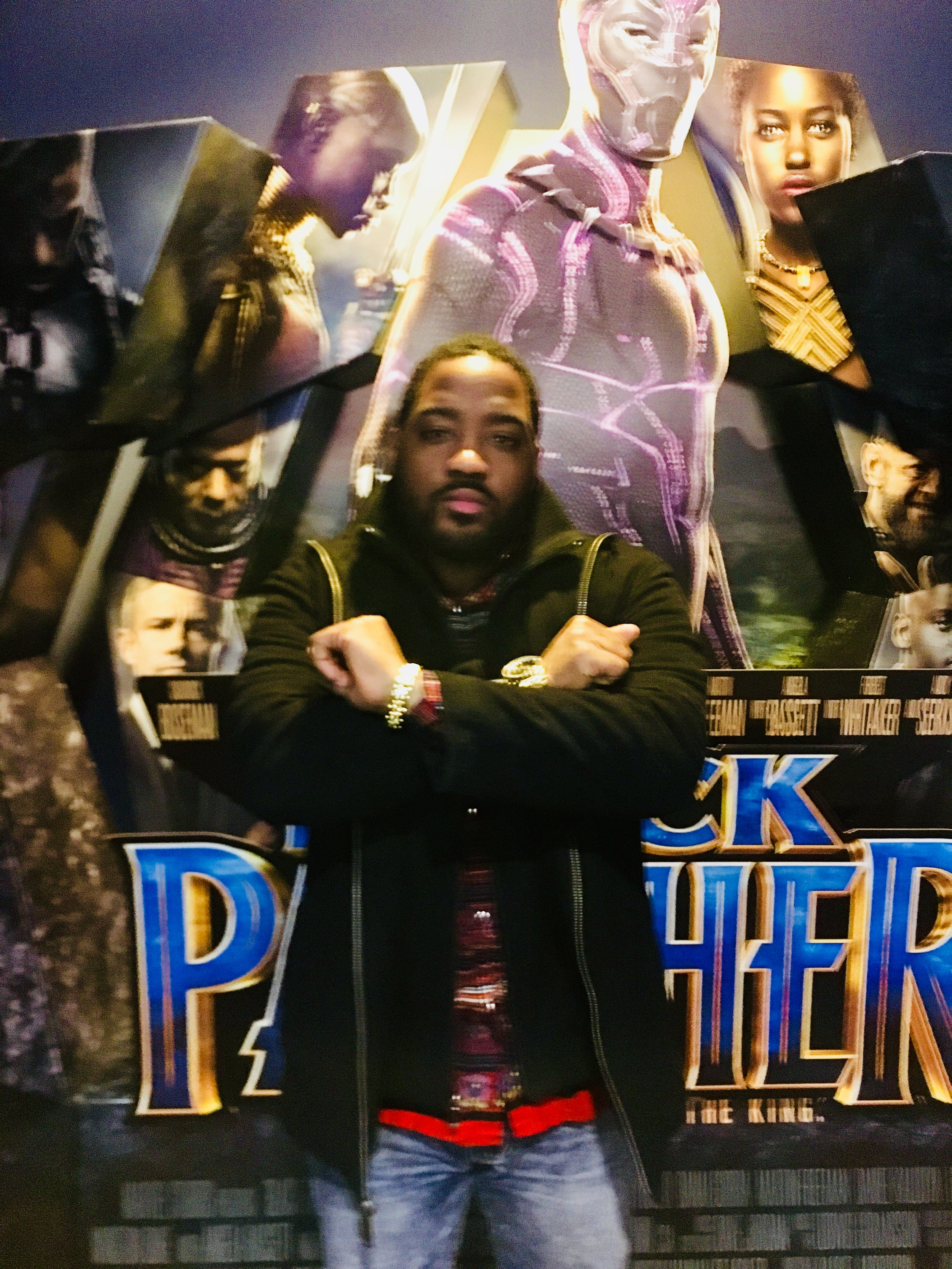 My friend David Washington at the premier of the Black Panther Movide