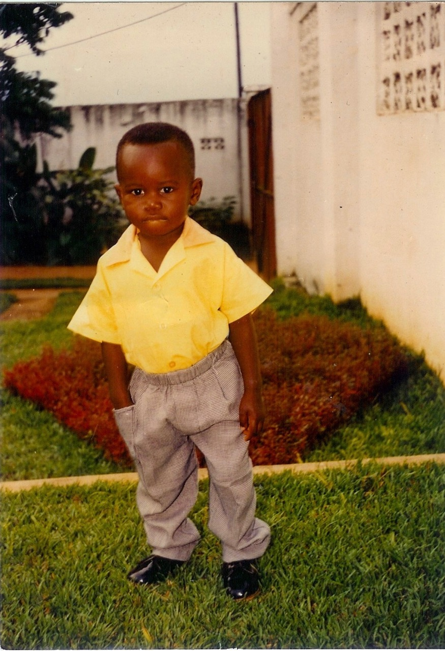 Deo at his home in the Congo at age 4.