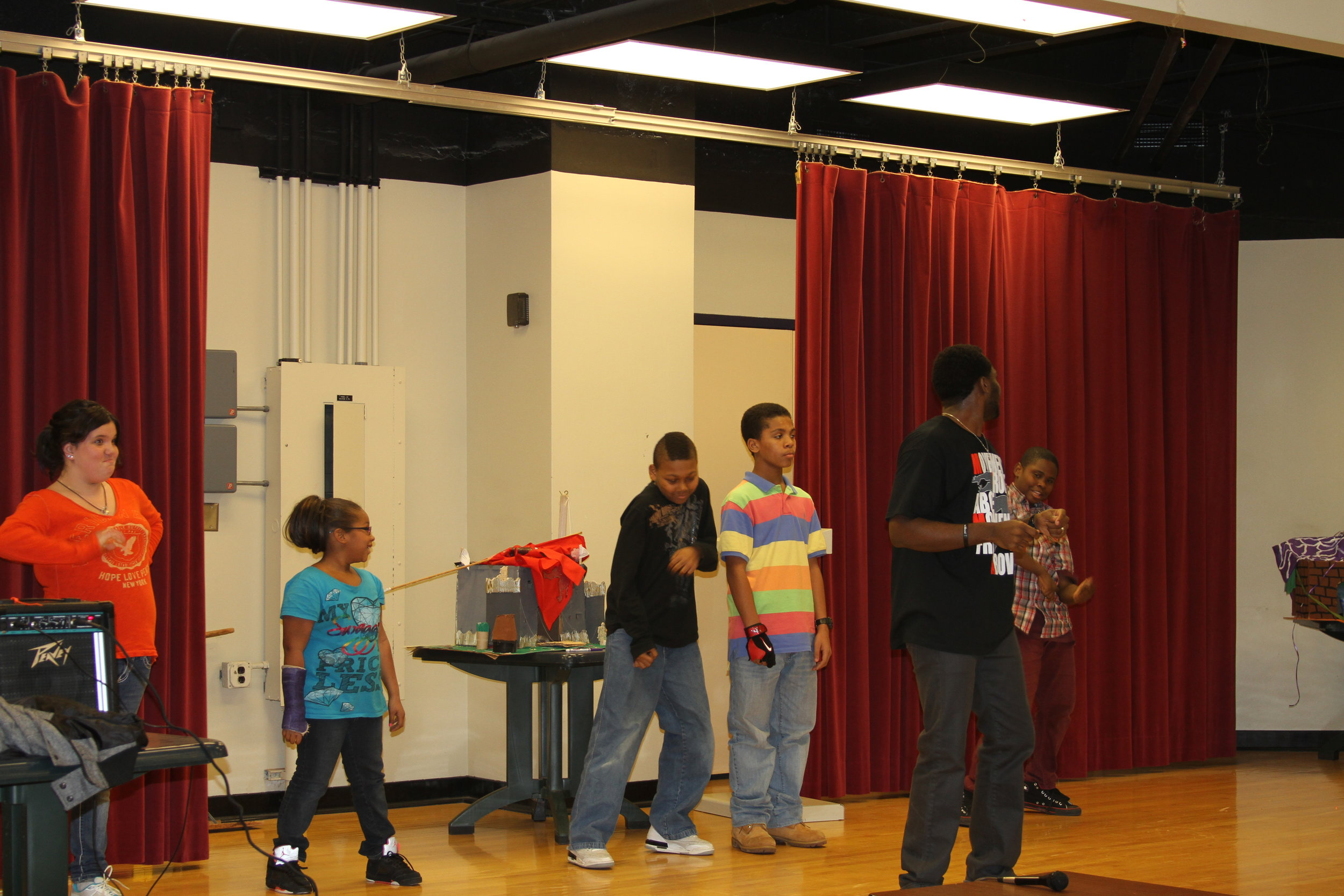 Deo teaching dance to a selective group of students in Pittsburgh, PA