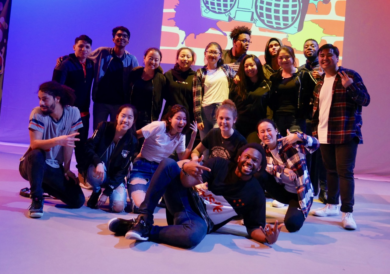 Deo and his students from Phillips Exeter Academy and his dance company members