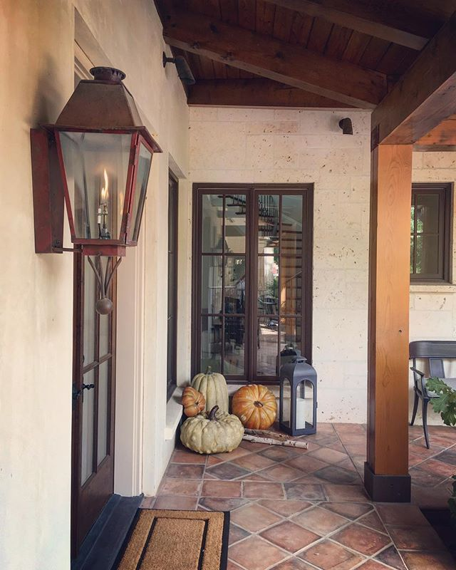 Fall installations are underway #pumpkins #fallfoliage #fall #vaquero #texas #haleylaneinteriors