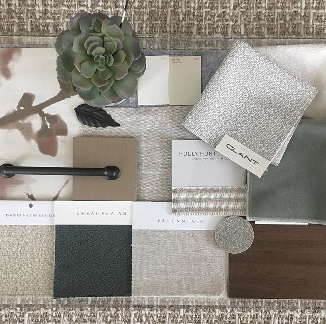Loving this color scheme for our #FalconPass project - lots of textures to give this house the warmth and coziness it deserves @haleylaneinteriors