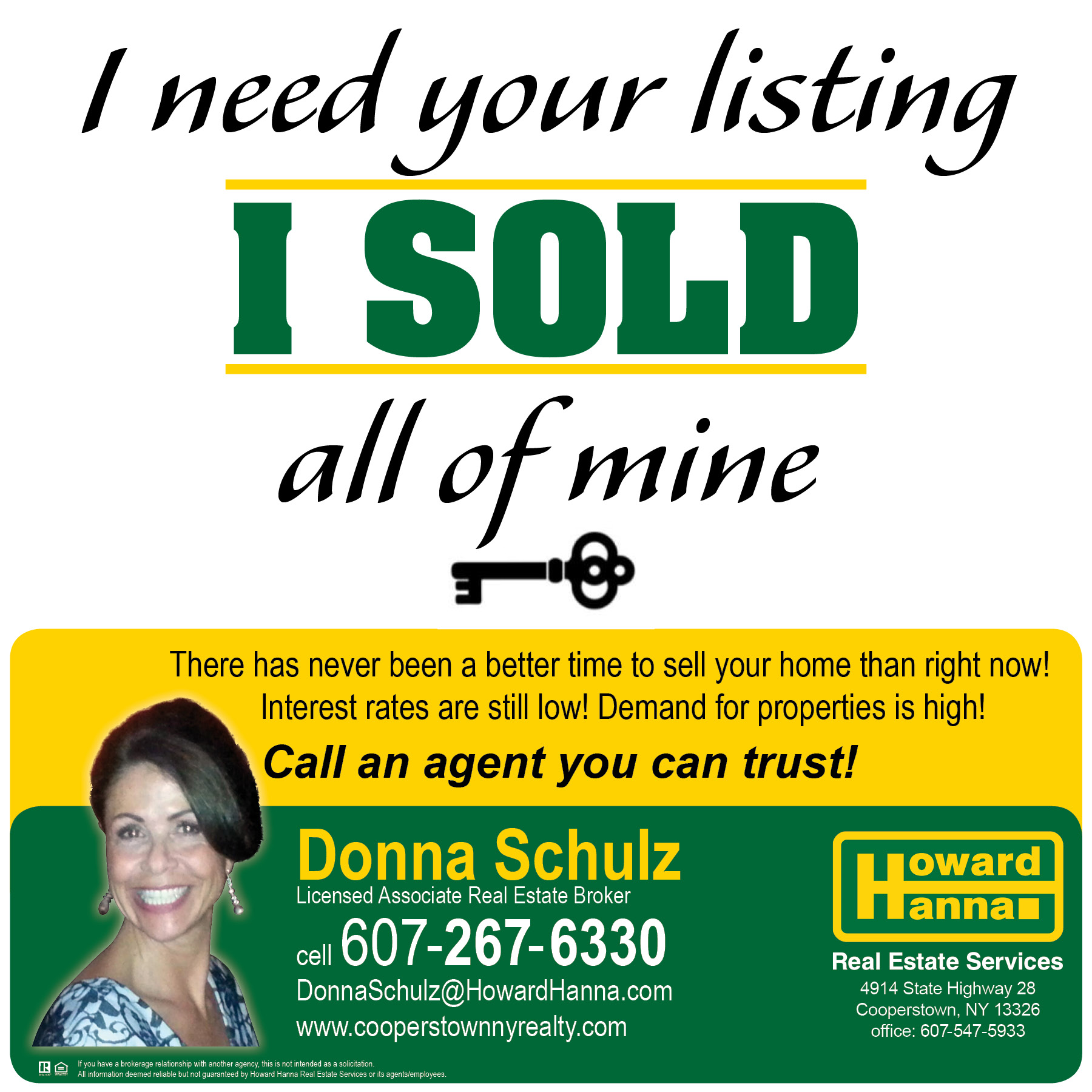 Donna Schulz can help you find the perfect home! Call her today!