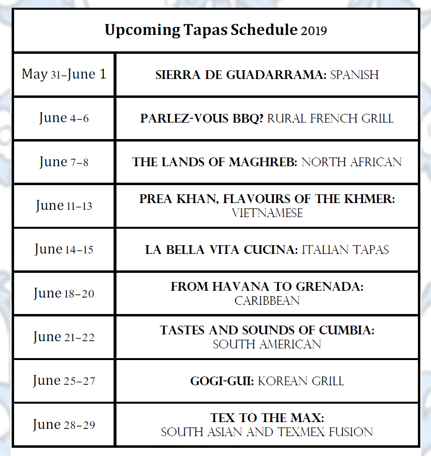 Tapas Schedule June.png