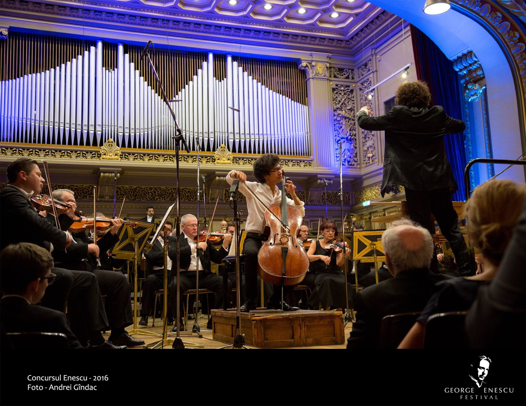 During the Finals of Enescu Competition. Maestro Alexandre Bloch and Enescu Festival Orchestra