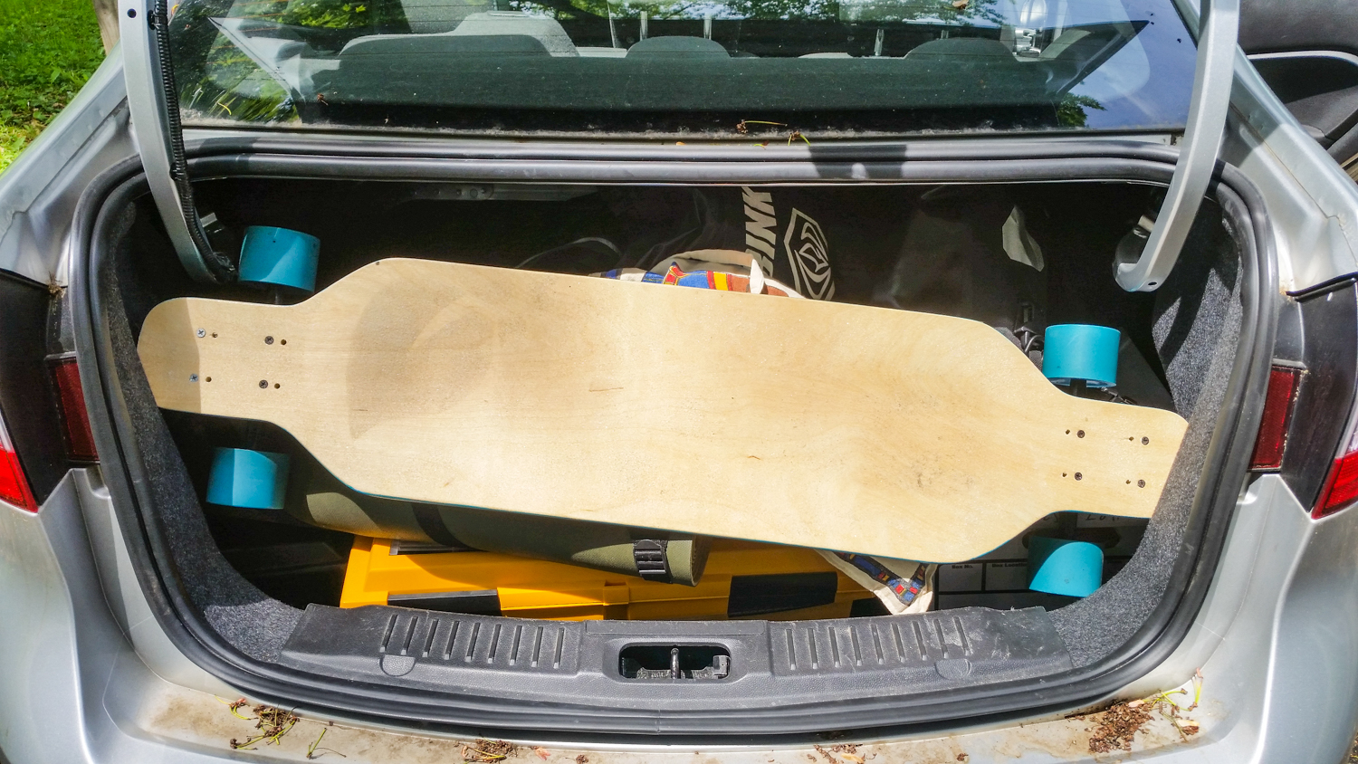 Yes, we took the longboard, no Teysia has never used it since 2014. It's at my mother's house now (we brought it back from Seattle, too).