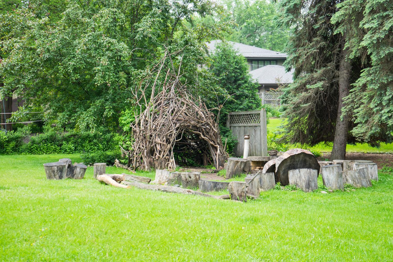 A wise suburban sage's hut
