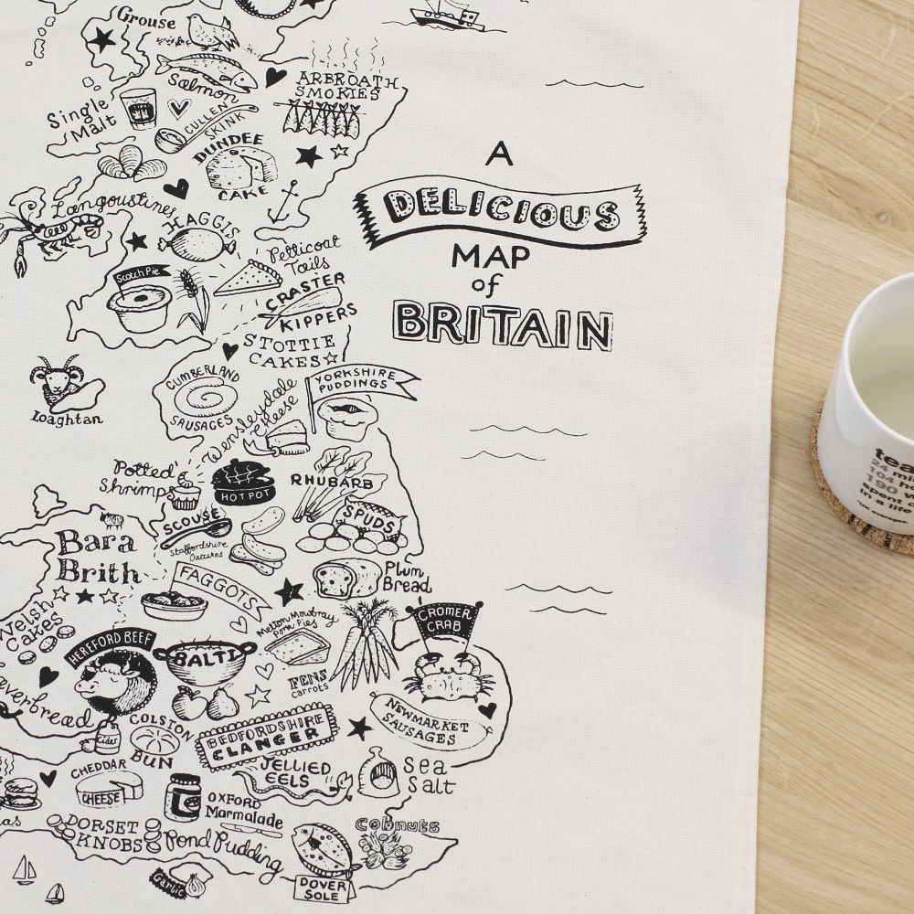 Rebecca Barnes   Rebecca is a versatile freelance illustrator based in Cambridgeshire, inspired by the British landscape, both rural and urban, and with a love of hand-drawn type.  Rebecca has worked on the Delicious map of britain tea towel and print which has been a huge success and one of the top sellers in 2016.
