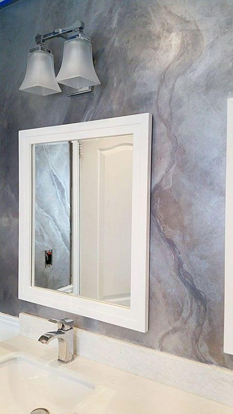 Venetian plaster and metalic marlble effect