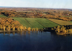 Aerial Photo of Keeler Bay Property in South Hero Vermont