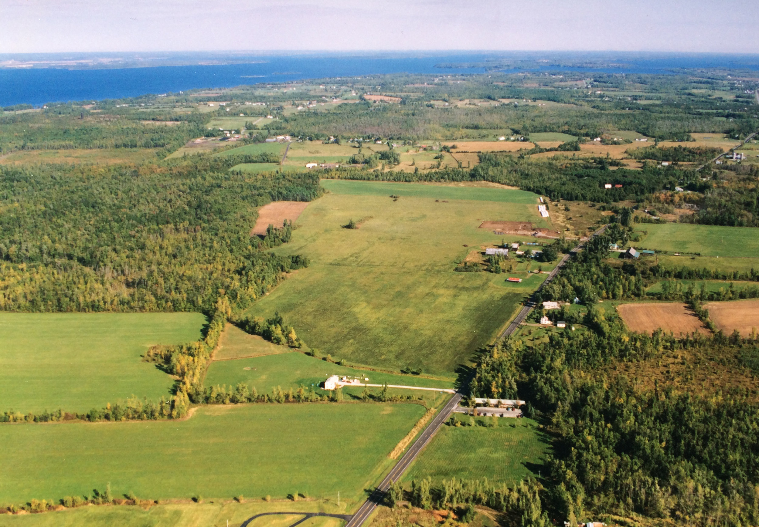 Aerial image of Maxham/Wilder Farm in South Hero Vermont