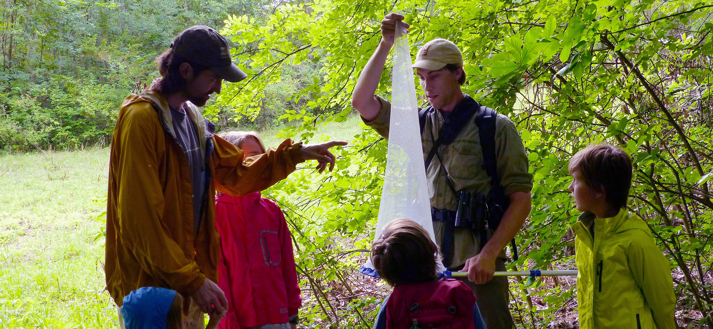 "Naturalist Sean Beckett, a regular teacher in our Naturalist Walks Program, explores the world of ""things with wings"" at Round Pond Natural Area."