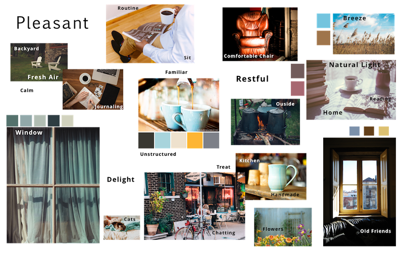 The diary study and survey displayed that users associated these pleasant images and words with their coffee drinking experience.