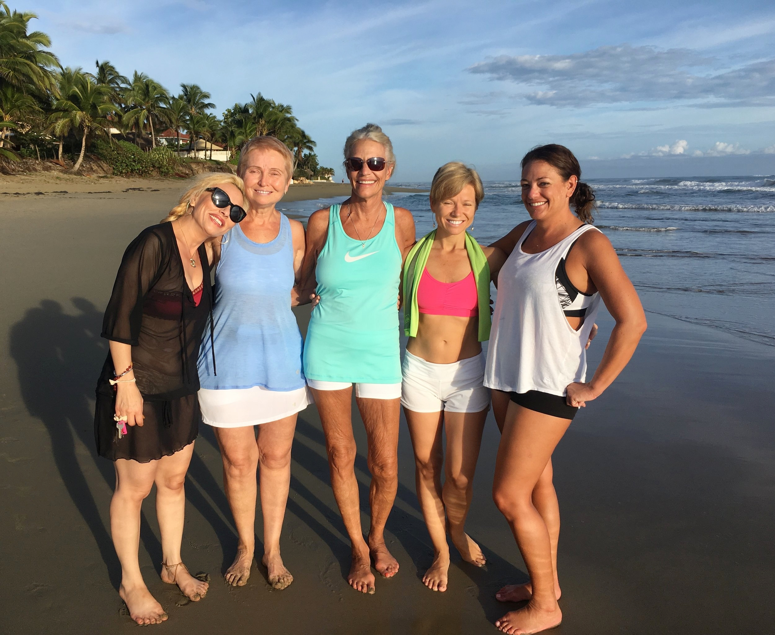 Beach Walks with our Fitness Family!