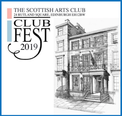 Get ready for  ClubFest 2019  from Friday 9th to Saturday 17th August.  The Scottish Arts Club is  Fringe Venue 310  and tickets are available from the  Fringe box office  or at the door before each performance.  The stellar line-up include:   Poetry : Edinburgh's Makar Alan Spence.  Concert : McLachlan plays McLeod.   Comedy : Dada Surrealism-The Puzzle of Avant-Garde Art.  Jazz : Transatlantic Jazz à Trois / Play: McNaughton.  Storytelling : Song over Scotland.  Piano recital : Elena Fischer-Dieskau.