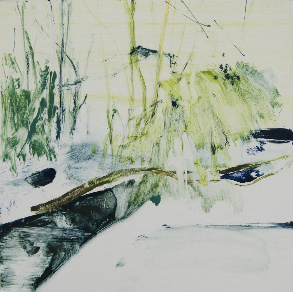 Weeping Willow, Monotype, 2017, 17.5 x 17.5 cm, £750