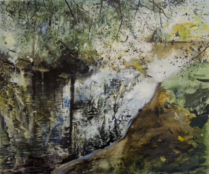 Heat and Shade Reflection, oil on board, 2014, 50 x 60 Cm, £2,850